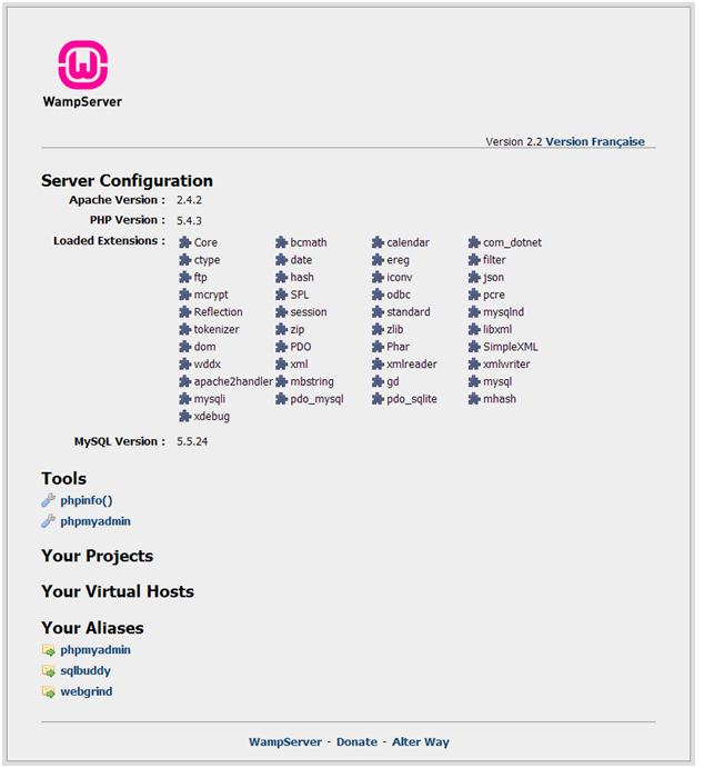 wamp server configuration