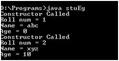 Java Constructor Overloading