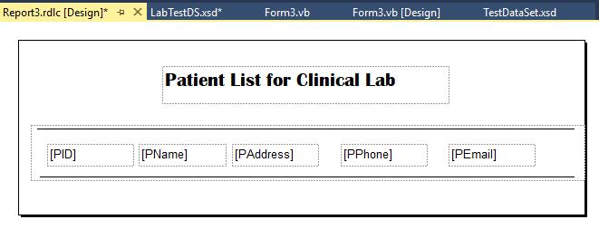 7 خطوات لإنشاء تقرير بيانات في VB.NET باستخدام اداة التقارير Reportviewer DesignReport