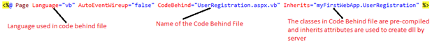 ASP.NET web page header