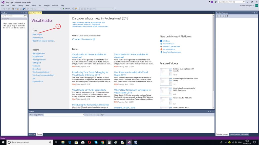 Create First ASP.NET Application