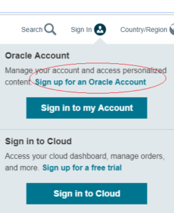 Sign Up Oracle Live SQL