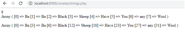 str_word_count php string function