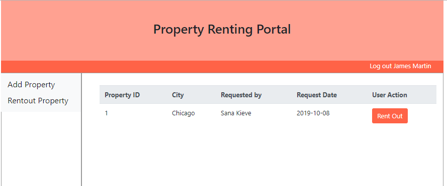 Owner rent Request