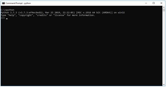 Python Command Window