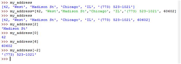 Python List Examples
