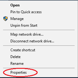 This PC Properties