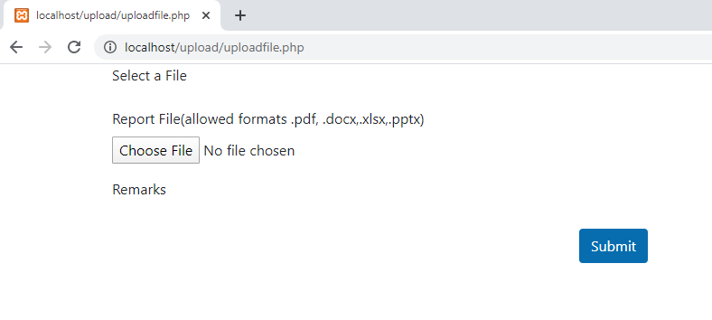 Interface PHP file upload