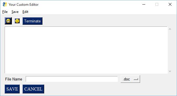 Python Menu Using PySimpleGUI